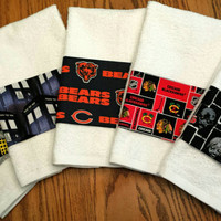 Bath Hand Towels Premium Cotton Towels Blackhawks CUBs Bears DOCTOR Who WALKING DeaD Embroidered Personalization Avail FATHER's DaY GiFT!