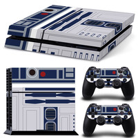 Star Wars R2D2 Vinyl Decal Skin For playstation 4 Console +2Pcs Stickers For ps4 Controllers