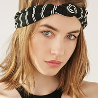 Knotted Striped Headwrap