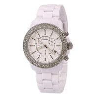 Fossil CH2671 Women's White Plastic Chronograph Watch