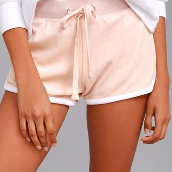 Candy Shop Blush Pink Velour Shorts