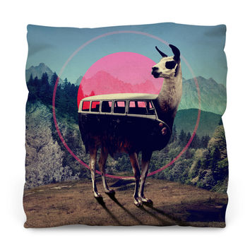 Llama Copy Throw Pillow