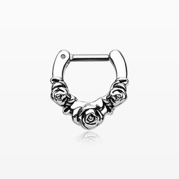 Rose Garden Icon Septum Clicker