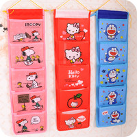 Cartoon Multifunctional Storage Bag Fashion Organizer Hanging Storage Pouch Bags Case for Door Bathroom