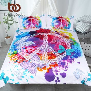 Watercolor Butterfly Bedding Set