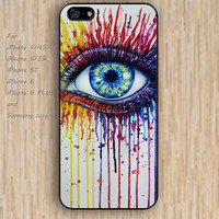 iPhone 4 5s 6 case rainbow fire eyes design flowers colorful phone case iphone case,ipod case,samsung galaxy case available plastic rubber case waterproof B656