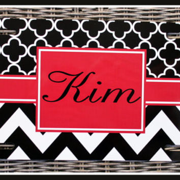 License Plate Monogrammed Gifts Monogram Car Accessories Personalized Car Tags License Plates Two Patterns of Your Choice Flame Accents