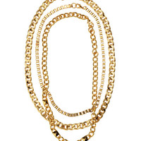 H&M - 3-pack Necklaces - Gold - Ladies
