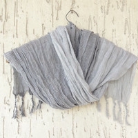 Handwoven infinity scarf,  Grey Stıriped Scarves, Natural,Organic Scarf, Fashion accessories, Women Scarves