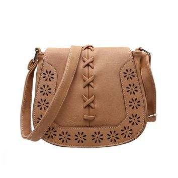 Vegan Leather Saddle Bag