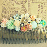 Wedding Hair Comb Spring Summer Rustic Secret Garden Romantic Dreamy Bridesmaid Maid of Honor Gift