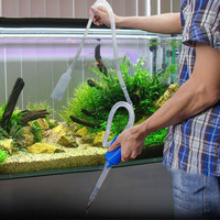 140cm Aquarium Cleaner Tool Siphon Gravel Suction Pipe Filter for Fish Tank, Vacuum Water Change Pump Tools, pipe tube for water