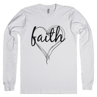 faith-Unisex White T-Shirt
