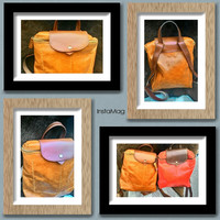 balong Tan leather backpack handmade to order