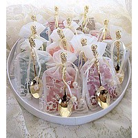 12 Assorted Tea Bag (Teaspoon) and Demi Spoon Favors in Bags FREE Shipping!