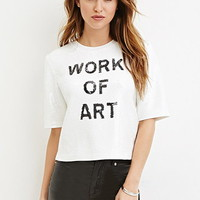 Sequined Art Graphic Top
