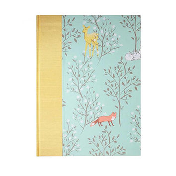 Baby  Keepsake Memory Book  Enchanting Forest
