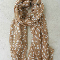 On a Perch Scarf in Taupe [3965] - $14.00 : Vintage Inspired Clothing & Affordable Summer Frocks, deloom | Modern. Vintage. Crafted.