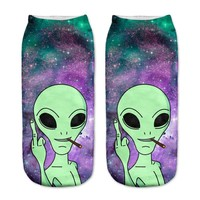 Trill Alien Ankle Socks