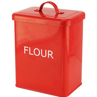 RED KITCHEN CANISTER - FLOUR
