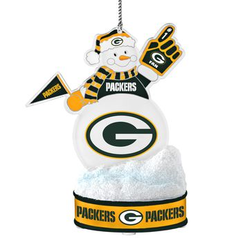 Green Bay Packers Ornament - LED Snowman