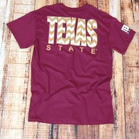 TX State Chevron - MAROON at Barefoot Campus