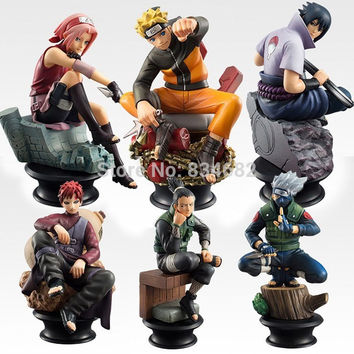 Naruto  Chess Figure Collection  6pcs/set 9cm