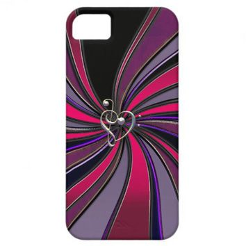 Lollipop Swirl With Treble Bass Clef Heart iPhone5 iPhone 5 Case from Zazzle.com
