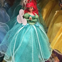 disney parks princess ariel tulle christmas ornament new with tag