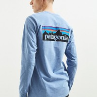 Patagonia P6 Logo Long Sleeve Tee | Urban Outfitters