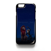 Lion King Movie Cartoon Simba for iPhone 4 4S 5 5S 5C 6 6 Plus , iPod Touch 4 5  , Samsung Galaxy S3 S4 S5 Note 3 Note 4 , and HTC One X M7 M8 Case Cover