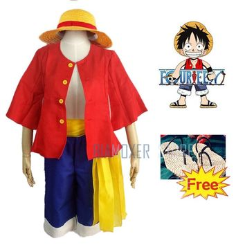 One piece two years ago Monkey D luffy cosplay costume halloween cosplay for men adult  japanese anime carnival boy dress wig