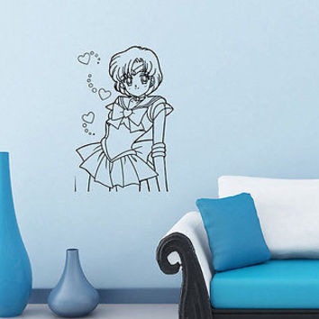 Wall Mural Vinyl Sticker Decal         girl hearts bow DA1202