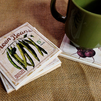 Vegetable Coasters, Healthy, Kitchen Coasters, Kitchen Decor, home decor, Vegetables, Health Food, Organic, Rustic Coasters, Pepper, tomatos
