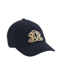 embroidered emblem baseball cap - scarves & hats - Women's accessories - J.Crew