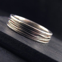 Bound - Sterling Silver Wedding Band - unisex and made to order in your size