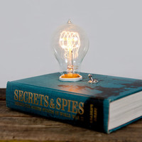 Original Hardback Book Lamp - Secrets and Spies
