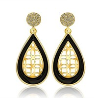 MLOVES Women's Classical Delicate Waterdrop Diamanted Earrings