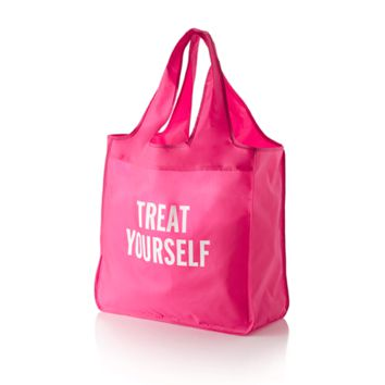 """""""Treat Yourself"""" Reusable Shopping Tote in Pink by Kate Spade New York"""