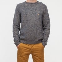 Topman / Navy Lambs Wool Twist Pocket