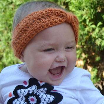 Pumpkin Orange Baby Turban Headband