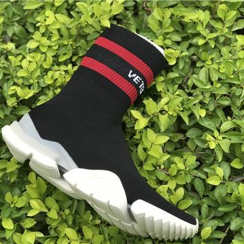 VETEMENT x Reebok Sock Trainer Dropping black red Basketball Shoes 36-44