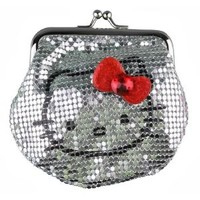Metal Mesh Coin Pouch by Hello Kitty