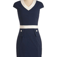 Deep Blue Wonder Dress | Mod Retro Vintage Dresses | ModCloth.com