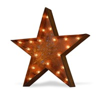 "24"" Star Vintage Marquee Sign with Lights (Rustic)"