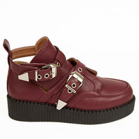 platfrom flatfrom burgandy boots kawaii cute hipster grunge hippy boho kitty pretty goth