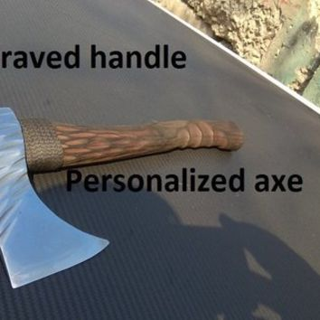 Engraved axe handle, viking axe, tomahawk, hatchet, mens gifts, medieval axe, viking gift, viking camp,Norse axe,Fathers day gift,iron gifts
