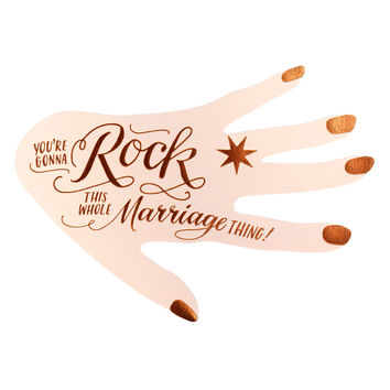 You're Gonna Rock This Marriage Thing Engagement Card