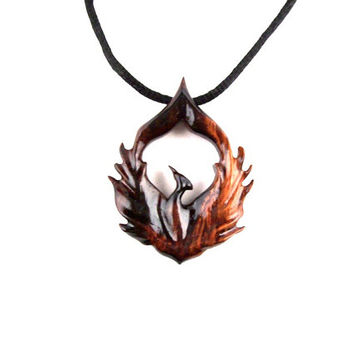 Best phoenix bird necklace products on wanelo phoenix necklace phoenix pendant phoenix jewelry wood phoenix necklace firebird necklace aloadofball Images