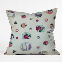 Natalie Baca Circles At Play Throw Pillow